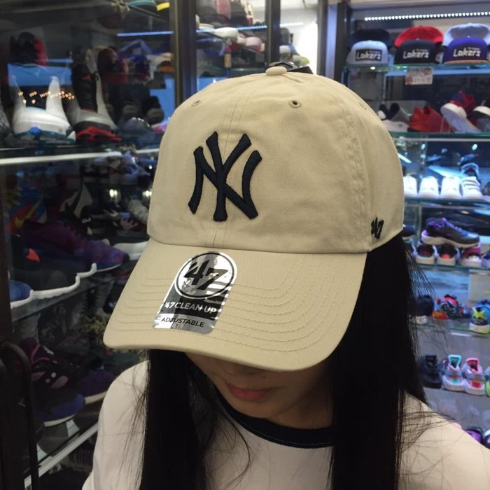 BEETLE 47 BRAND 老帽 紐約 洋基 NEW YORK YANKEES DAD HAT 大聯盟 卡其 深藍 MN-387 2