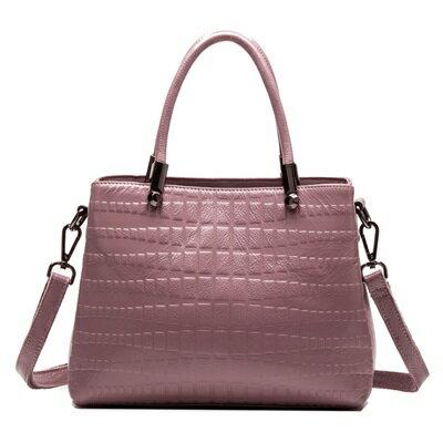 手提包真皮肩背包-歐美輕奢優雅時尚女包包2色73se30【獨家進口】【米蘭精品】
