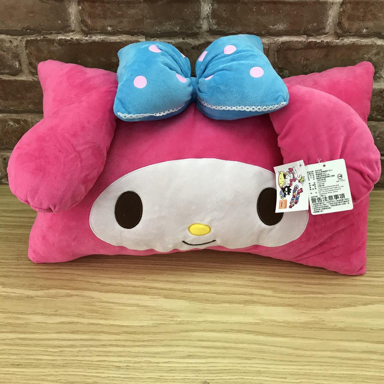 【真愛日本】17090600012 造型大臉雙人枕-美樂蒂 三麗鷗 melody 美樂蒂 枕頭 抱枕 靠枕 靠墊