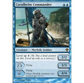 【冰河森林】 MTG 魔法風雲會 ROE No. 057 Coralhelm Commander 珊瑚盔指揮官 R卡(金卡稀有藍生物)
