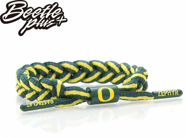 BEETLE PLUS 西門町經銷 全新 美國品牌 RASTACLAT SHOELACE BRACELET 綠黃 浩克 奧勒岡 鴨 雙色 線條 鞋帶 編織 手環 RA-66 - 限時優惠好康折扣