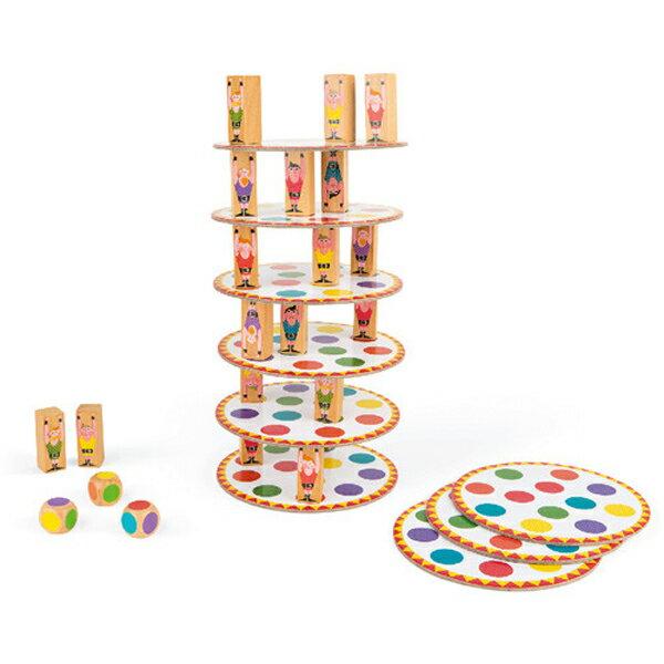 【法國 Janod】趣味桌遊-疊疊塔 J02757