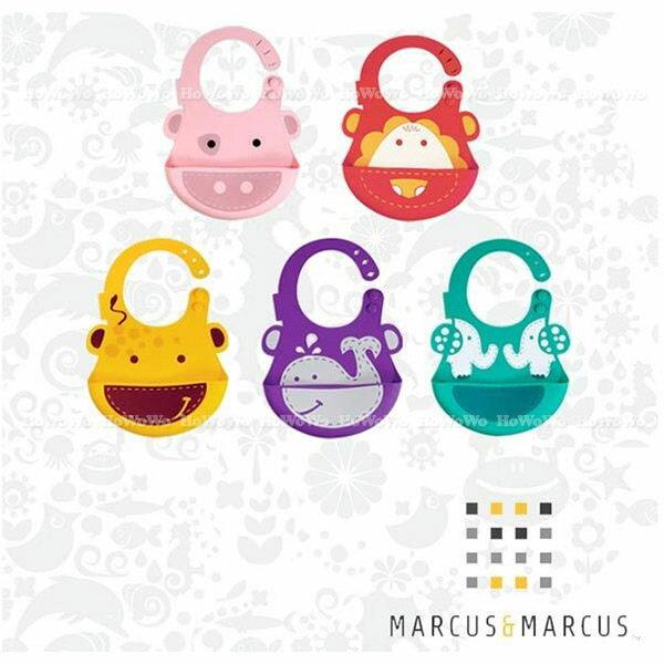 加拿大 Marcus & Marcus 動物樂園矽膠立體圍兜 329998 好娃娃