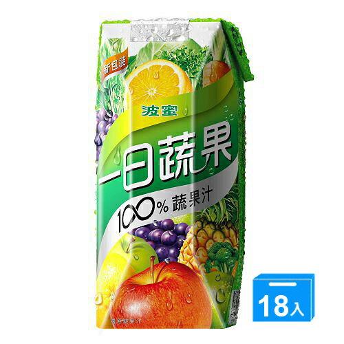 波蜜一日蔬果100%蔬果汁330ml*18罐【愛買】