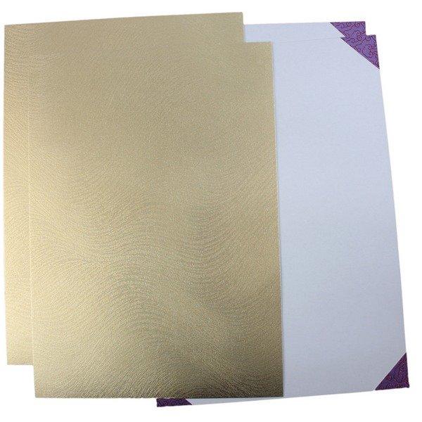 單面證書夾 亮金色(加厚) / 一包2個入(定75) 簽名報到單底板 合約書夾 契約書夾 證書夾 簽約書夾 獎狀夾 MIT製-國204C-5D-Gx2 1