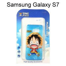 海賊王透明軟殼 [藍底] 魯夫 Samsung G930FD Galaxy S7 航海王【正版授權】