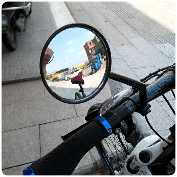 (mina百貨) 自行車【後視鏡】 後照鏡 反光鏡 單車配件 觀後鏡 車把專用 登山車 彎曲款 H009-02
