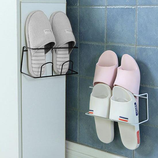 ●MYCOLOR●雙層壁掛式鞋架掛架壁掛式壁掛鞋架浴室拖鞋架家用客廳鞋托【Y03-1】
