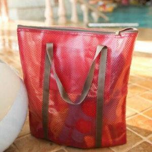 美麗大街【BF001E4】SAFEBET大號長方形多功能防水塗層網手提袋旅行雜物收納袋