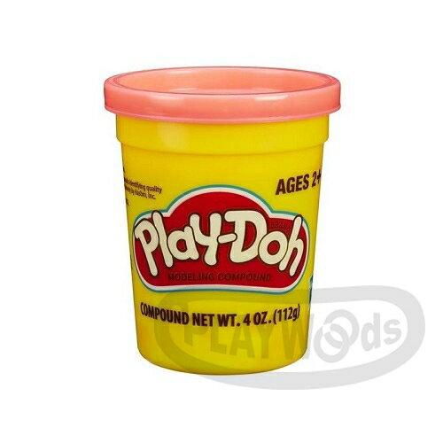 【Playwoods】[PLAYDOH][孩之寶-培樂多黏土]原料 繽粉色罐 4盎司單罐 桃紅色(DIY/安全無毒/Hasbro)