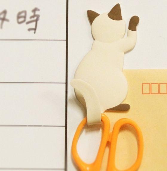 日本貓咪冰箱磁鐵貼白板留言板吸鐵掛勾082956