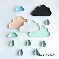 愚人節療癒文具雜貨推薦到|北歐 質感啞光輕柔雲朵餐盤系列 |雲朵/雨滴/小雲|5色|質感陶瓷餐具|預購就在Alice餐廚好物推薦愚人節療癒文具雜貨