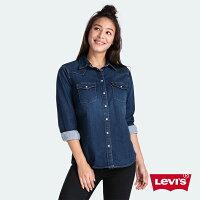 牛仔襯衫推薦到Levis 女款 牛仔襯衫 / Sorbtek保暖纖維 / 不規則微刷白 W就在LEVIS官方旗艦店推薦牛仔襯衫