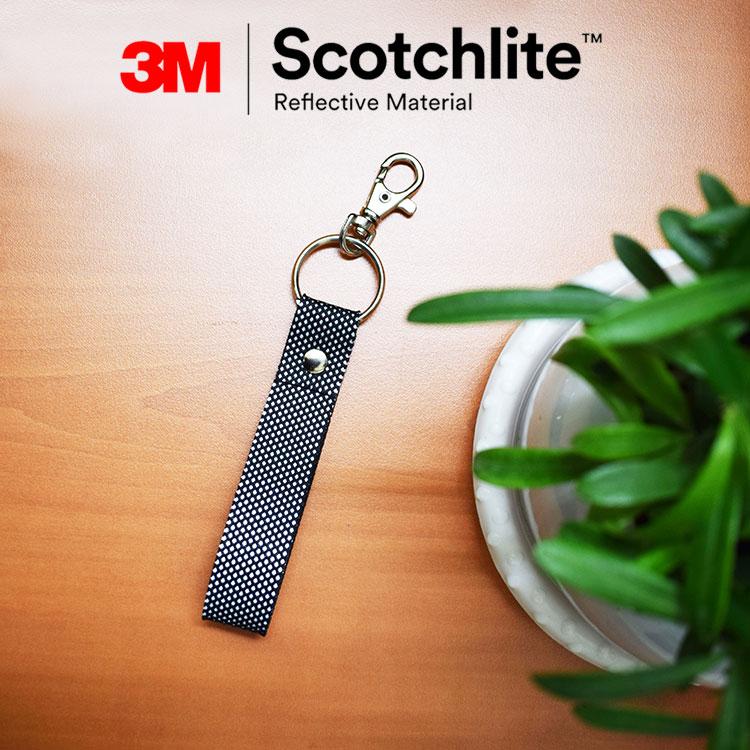 簡約時尚雙面反光鑰匙圈-3MScotchlite 學童通勤族必備外出運動族出國旅行必備背包吊飾