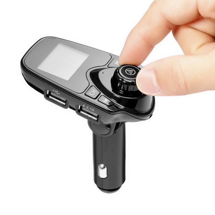 Bluetooth Car FM Transmitter Radio Adapter USB Charger MP3 Player 4