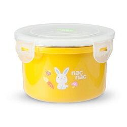 【麗嬰房】nac nac 不銹鋼密封兩用隔熱圓型餐盒