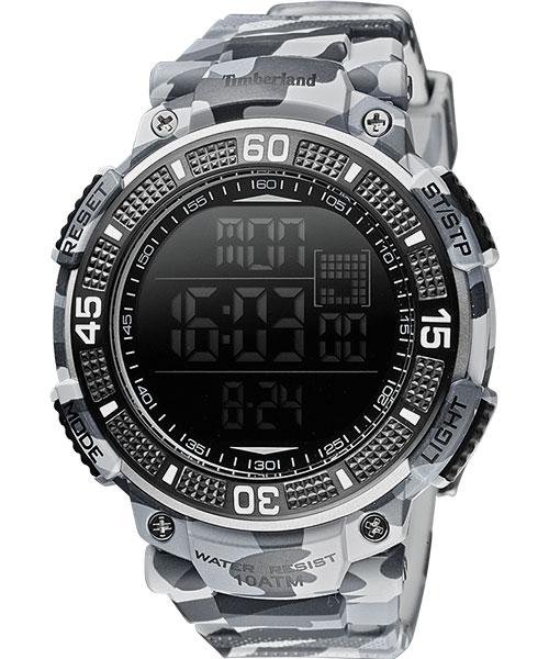 Timberland 天柏嵐 TBL.13554JPGY/02A迷彩多功能數位腕錶/灰50mm