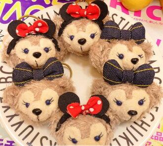 =優生活=【特價$99】日本迪士尼Duffy熊 Shelliemay牛仔米妮達菲熊雪莉梅造型髮圈 髮飾