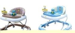 【Babybabe】 豪華靜音避震嬰幼兒學步車 B600  (卡其/藍)