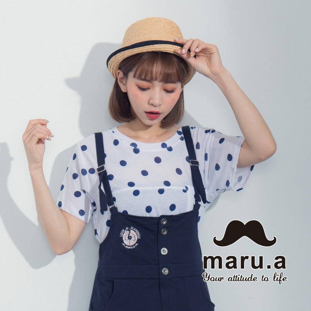 【maru.a】滿版圓點小口袋上衣7321224 1
