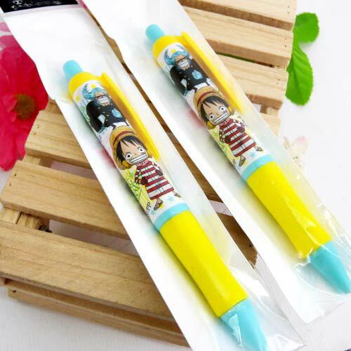【真愛日本】15061700012 胖胖自動鉛筆2入-魯夫 海賊王 航海王 喬巴 魯夫 文具 自動筆 書寫 正品 限量