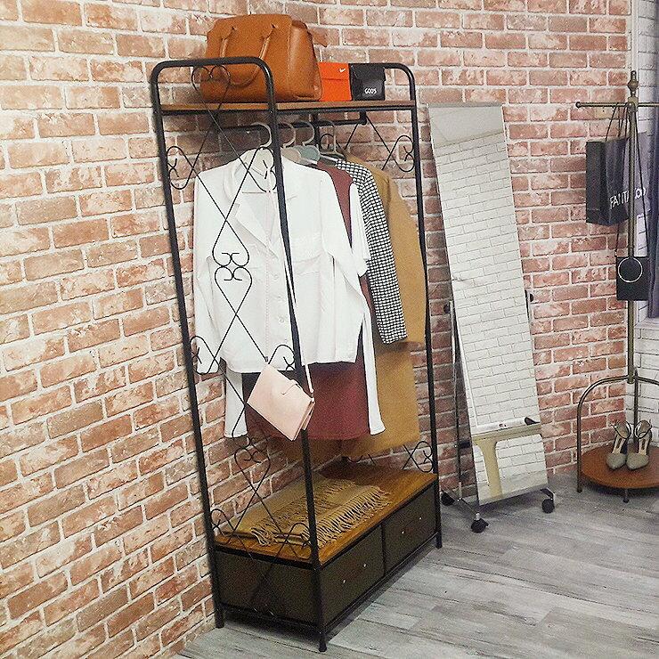 工業風双抽衣櫥