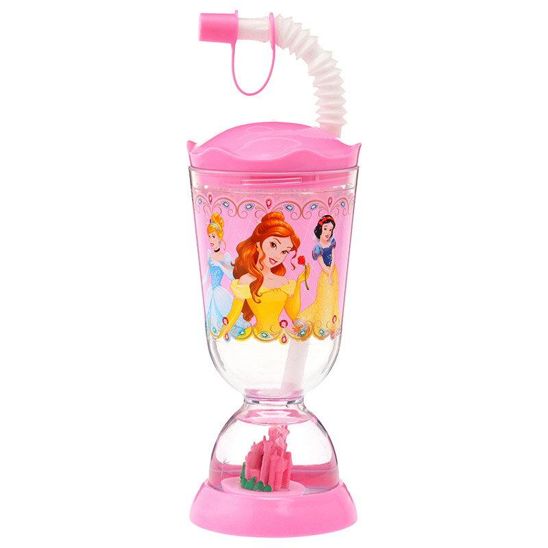 【真愛日本】15121600028限定DN吸管杯-公主漂浮城堡 迪士尼 公主系列 杯子 吸管杯 日本帶回