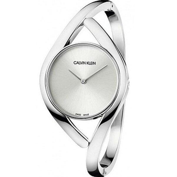 Calvinklein卡文克萊優雅感官系列(K8U2M116)派對時尚S型腕錶銀28mm