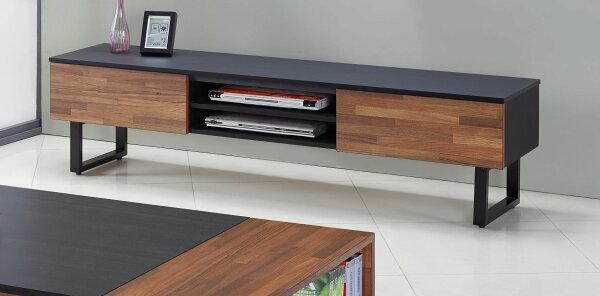 尚品傢俱:【尚品傢俱】JF-218-2羅克6尺集層木雙色鐵架二抽長櫃