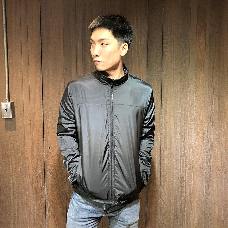 美國百分百【全新真品】Kenneth Cole 外套 KC 男 雙面穿 立領 夾克 風衣 刷毛 黑色 S號 H085
