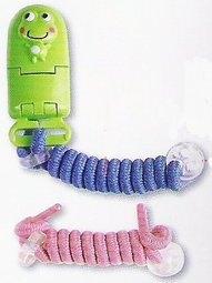【淘氣寶寶】DOOBY大眼蛙伸縮卡通奶嘴鏈奶嘴夾奶嘴鍊