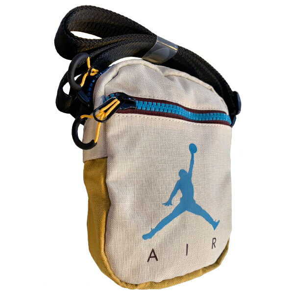 Shoestw【9A0197-W66】NIKE JORDAN Jumpman Air Festival Bag 側背包 多功能小側包 AIR JORDAN 大飛人 卡其芥末黃藍 2
