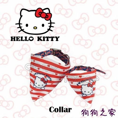 ☆狗狗之家☆日本三麗鷗授權 Hello Kitty 凱蒂貓 項圈 領巾 M尺寸