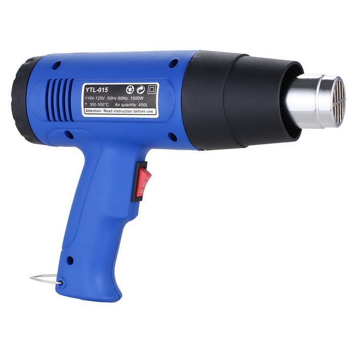 Heat Gun Hot Air Gun Dual Temperature+4 Nozzles Power Tool 1500W Heater Gun 1