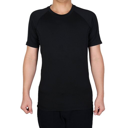 Adult Men Athletic Short Sleeve Activewear Badminton Sports T-shirt Black XL d95441135993712f1d2879a4068b8853