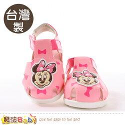寶寶鞋 台灣製迪士尼米妮正版女童涼鞋 魔法Baby~sk0693
