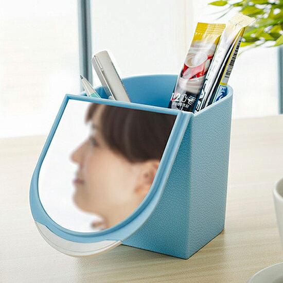 ♚MY COLOR♚翻蓋帶鏡化妝盒 閨密 多 收納 口紅 睫毛膏 乳液 保養 工具 護手霜