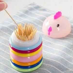 美麗大街【BF267E5E822】創意卡通小雞動物造型牙籤筒 家用可愛牙籤盒便攜牙籤收納罐