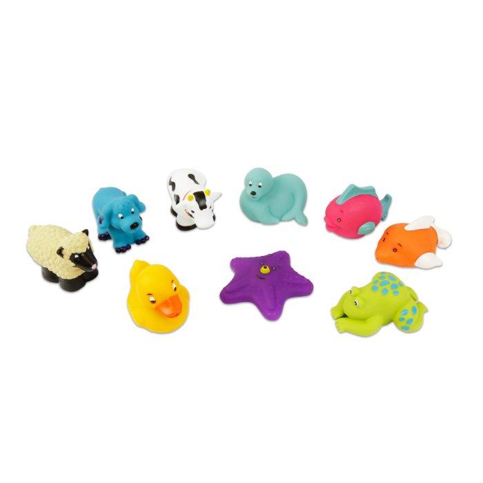 【淘氣寶寶】 美國 B.Toys 感統玩具 《 BATTAT 》洗澡玩具 海星與朋友們(9pcs)