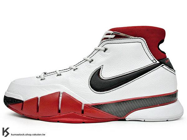 2018 經典籃球鞋款 進化復刻登場 NIKE KOBE 1 PROTRO ALL-STAR AS 白黑紅 明星賽 曼巴 內藏 全片式 ZOOM AIR 氣墊 籃球鞋 Bryant 強力著用 (AQ2728-102) !