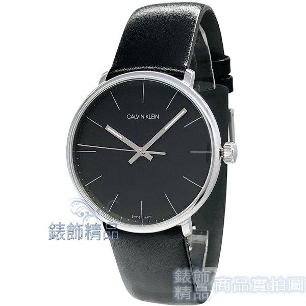 【錶飾精品】CalvinKleinCK手錶K8M211C1時尚雅痞大三針黑面黑色皮帶男錶