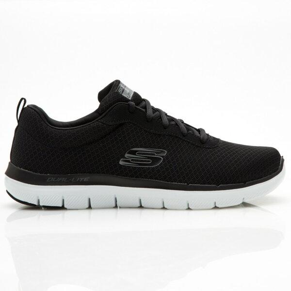 SKECHERSFlexAdvantage2.0男鞋慢跑健走休閒網布記憶鞋墊輕量舒適透氣黑【運動世界】52125BKW