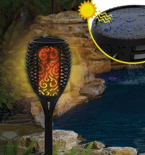 Solar Flickering Torch Light - 2 Pack 0