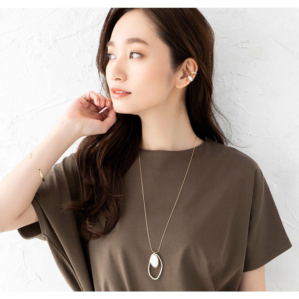 日本Cream Dot  /  個性不規則雙圈項鍊  /  a03928  /  日本必買 日本樂天代購  /  件件含運 1
