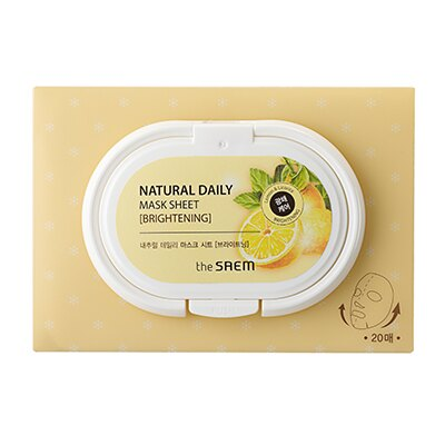 【即期良品】韓國 the SAEM Natural Daily 美顏亮白面膜 260g Natural Daily Mask Sheet - Brightening【辰湘國際】