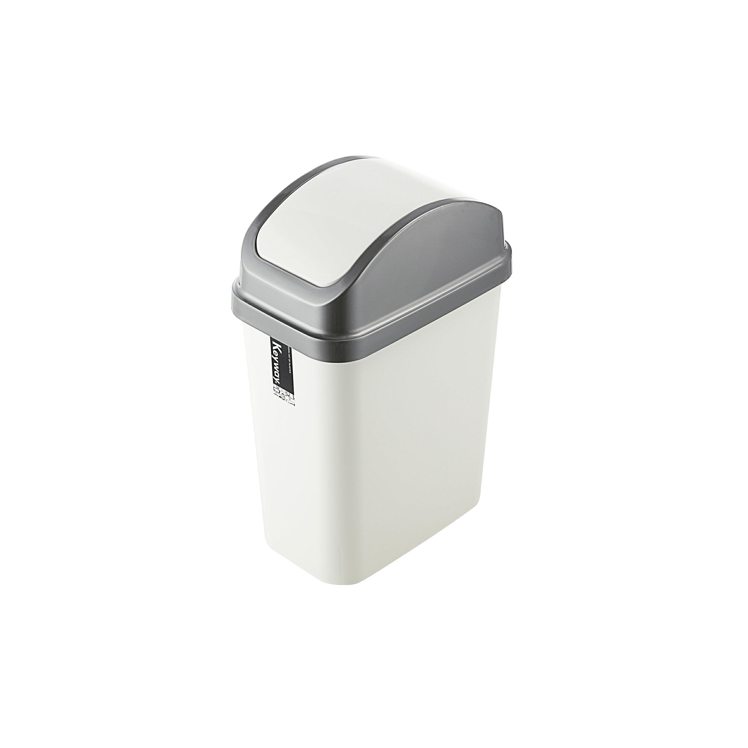 搖蓋式垃圾桶/環保概念/MIT台灣製造 天使10L附蓋垃圾桶 CV-310  KEYWAY聯府