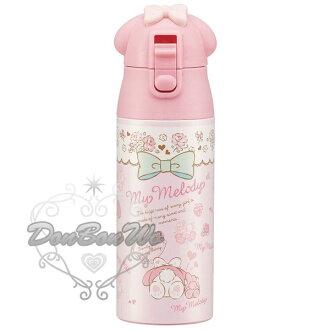SKATER美樂蒂直飲水壺超輕量保溫保冷瓶360ml不鏽鋼粉色玫瑰小兔多圖341014海渡