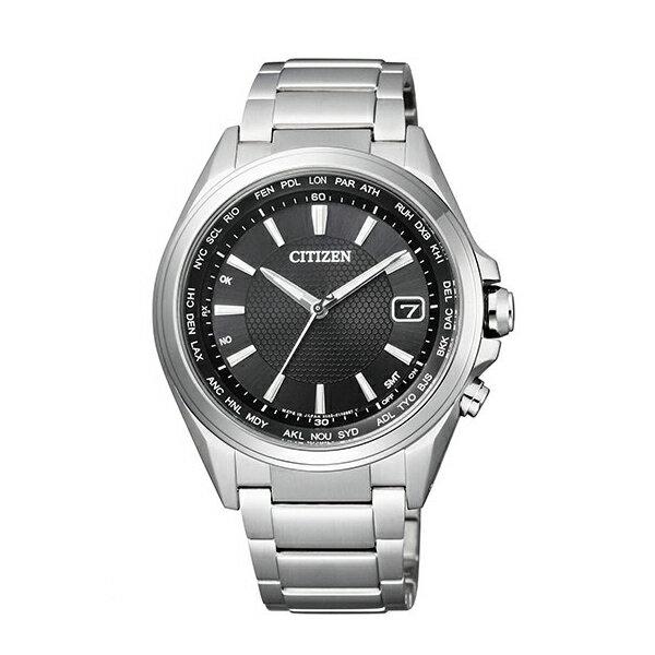 CITIZEN星辰CB1070-56E都會簡約光動能電波腕錶/黑面40mm
