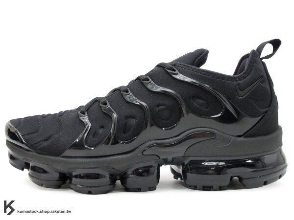 KUMASTOCK:2018最新廣告強力主打HYBRID進化合體NIKEAIRVAPORMAXPLUS全黑熱帶魚彈性布料獨立全氣墊慢跑鞋GD(924453-004)0218