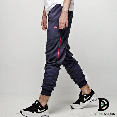DITION 美式MA1電繡小熊縮口褲 運動棉褲 抗毛球 1